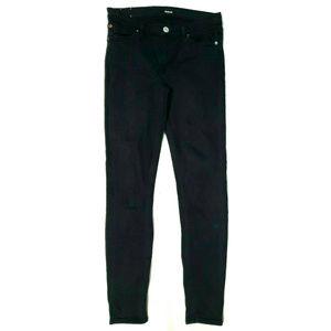 Hudson Womens Krista Super Skinny Black Jeans 29
